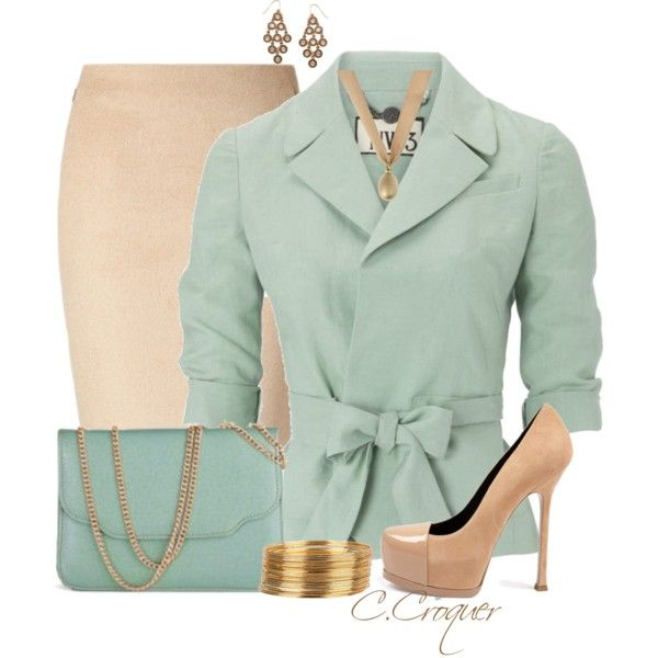 Mint&Nude, created by ccroquer on Polyvore