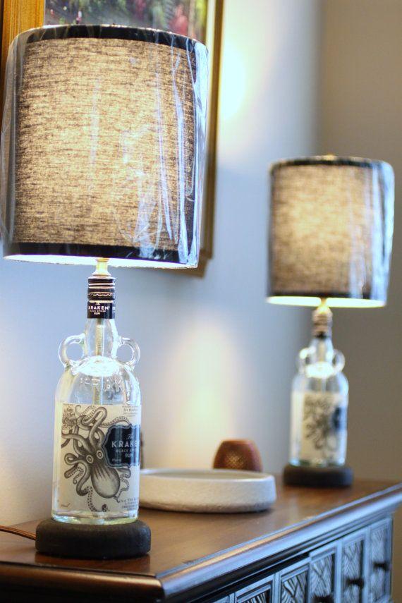 diy bottle lamp 25 pinterest. Black Bedroom Furniture Sets. Home Design Ideas