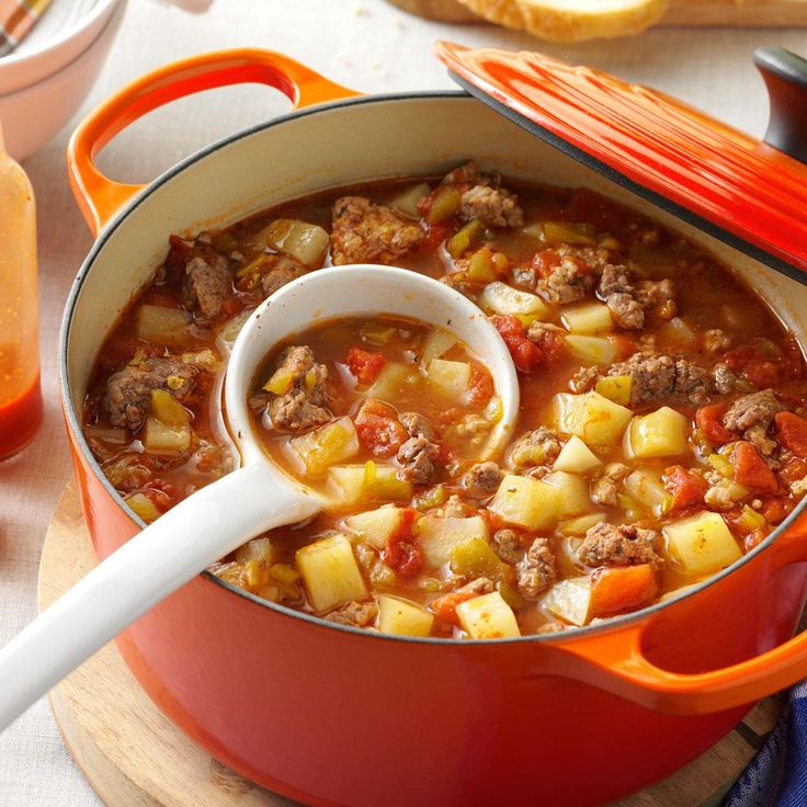 Green Chili Stew Recipe -Anaheim chilies are the top crop in New Mexico. I roast them to use in a variety of dishes. Peppers give this down-home stew a wonderful rich flavor my family loves.—Mary Spill, Tierra Amarilla, New Mexico