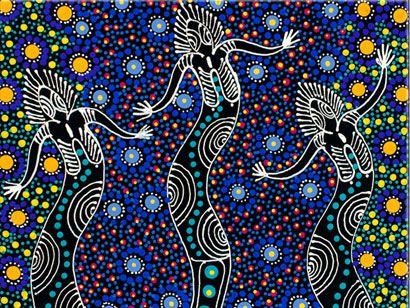 Aboriginal Dreamtime Art: Nungari Dreamtime Sisters by Colleen Wallace   Cool Stuff   Pinterest   Aboriginal art, Art and Indigenous art