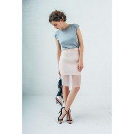 Pencil powder pink skirt #minimalism #rosequartz