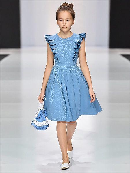 Платье ЛИЛИАН Alisia Fiori. Цвет голубой. Вид 3.