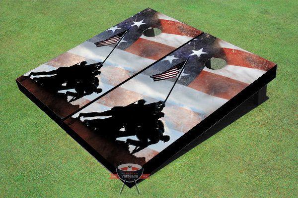 Iwo Jima Memorial Cornhole Board