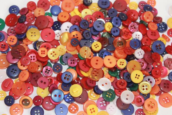 Tiny bright color buttons mixed round buttons 100 buttons