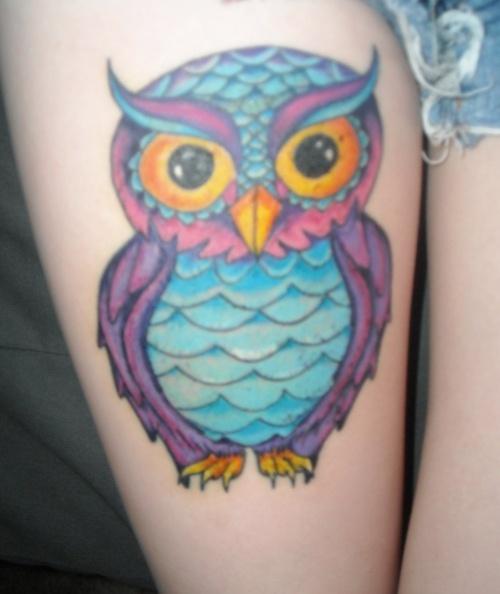 colorful owl tattooTattoo Ideas, Black And White, Tattoo Tattoo, Colors Owls Tattoo, Tattoo Sheena, Birt Estl, Owl Tattoos, Ink, Cool Tattoo