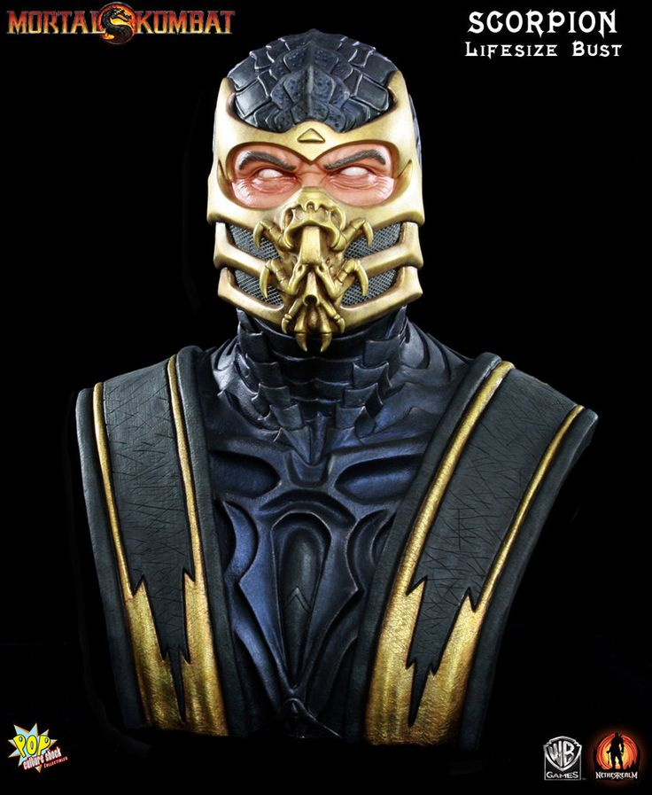 Mortal Kombat 9: Scorpion 1:1 Life Size Bust
