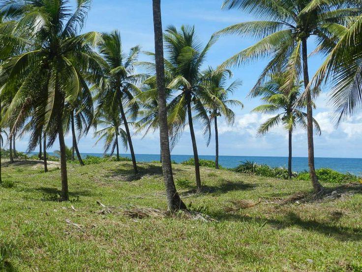 Propriedade em Frente ao Mar. Área frequentada por pescadores, com barreiras de corais em Peninsula de Maraú, Bahia, Brasil.
