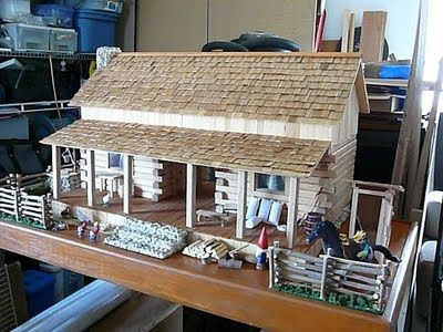 Rehabing a log cabin dollhouse | Wildhare Creations