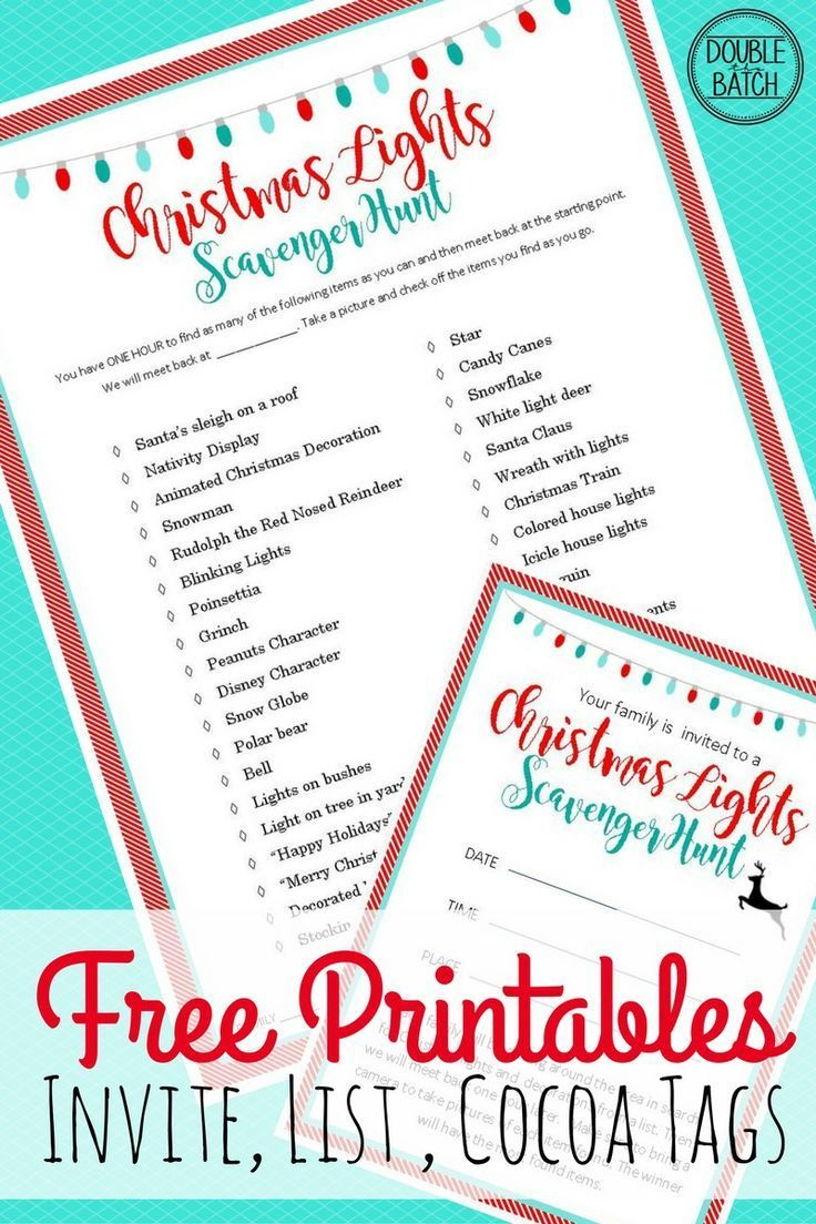 Create Your Own Christmas Party Invitation Template For Lights Scavenger Hunt With The Special Designs Enjoy Family Friends