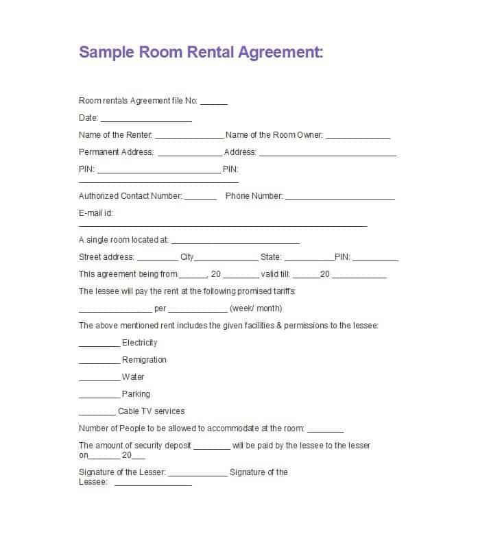 5 Basic Room Rental Agreement Templates Word Excel Templates Room Rental Agreement Rental Agreement Templates Rental Application