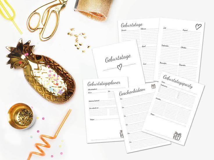 """DIN A5 - A5 Kalendereinlagen Geburtstage - """"What you love"""" - ein Designerstück von TCPdesign bei DaWanda"""