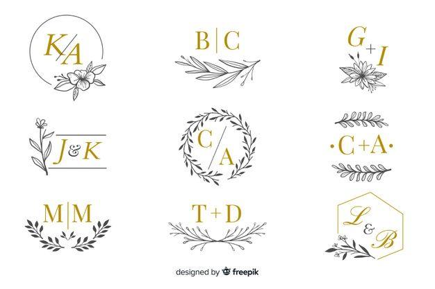 Collection Of Wedding Monogram Logos Free Vector Free Vector Freepik Vector Freelogo Freewedding Freewed Vector Free Monogram Logo Wedding Logo Monogram