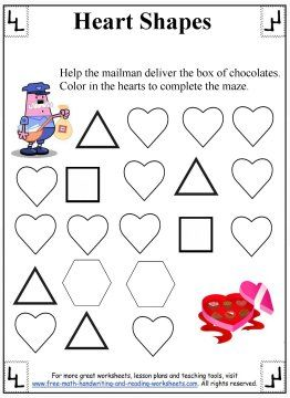 heart shapes shapes worksheets pinterest heart shapes and worksheets. Black Bedroom Furniture Sets. Home Design Ideas