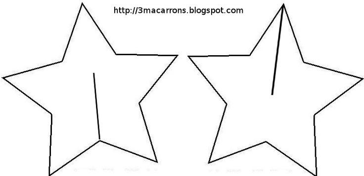Molde para estrelas em 3D.