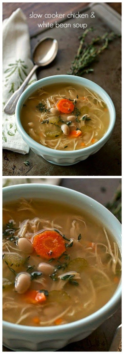 Slow cooker chicken and white bean soup from yankee for Delicious slow cooker soup recipes