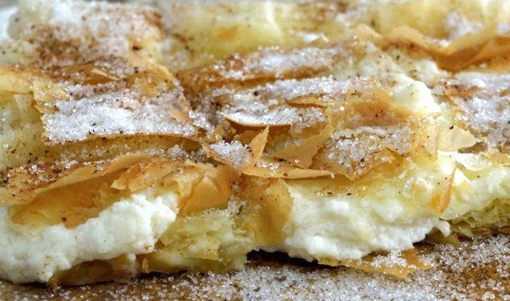 Start your day with this #bougatsa: a delicious #Greek #custard #dessert #recipe.