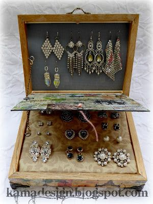 Free tutorial for earring organizer made from two picture frames