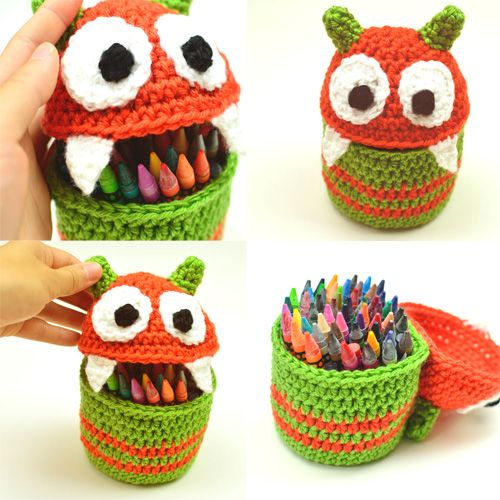 Crochet Pattern: Monster Container