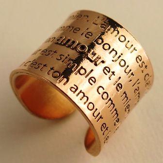 """""""L'amour est clair comme le jour, L'amour simple comme le bonjour, L'amour est nu comme la main, C'est ton amour et le mien..."""" Fy Faucogney"""
