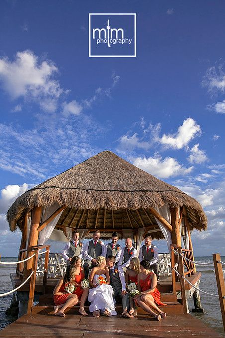 Wedding Party On Pier Secrets Silversands All Inclusive Beach Resort Located Just South Of