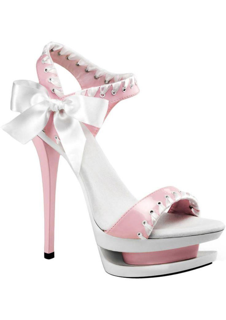 Blondie-615  Pink/white  Size 6