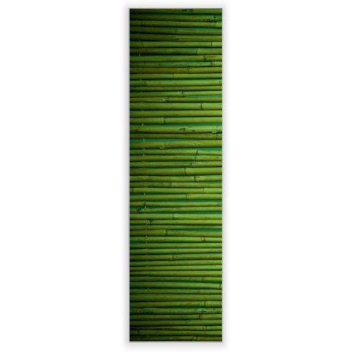 Motivscheibe für IKEA Wandleuchte Gyllen im Hochformat mit Motiv: Bambus Grün