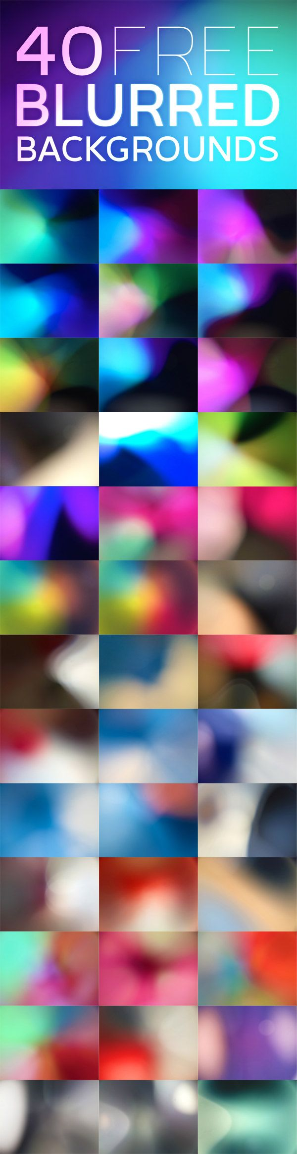 40 Free Blurred Backgrounds AND instructions for use with Photoshop