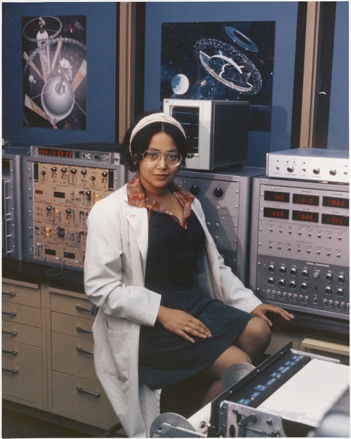 Dr. Patricia S. Cowings, circa 1978. National Aeronautics and Space Administration (NASA) research psychologist Patricia S. Cowings investigated the psycho-physiological and biological problems experienced by astronauts in space in the early 1980s. Better known as space-sickness, this is a real problem for many astronauts. Cowings' tests induced sickness so she could lean how to combat the effects. NASM-97-15073