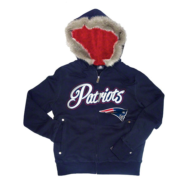 New England Patriots Women's Navy Brushed Fleece Faux Fur & Sherpa lined Full Zip Hoodie. $79.99 http://www.newenglandusa.com/New-England-Patriots-Pro-Shop/new-england-patriots-sweatshirts.php