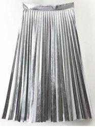Metallic midi skirt & sneakers - Tina Chic