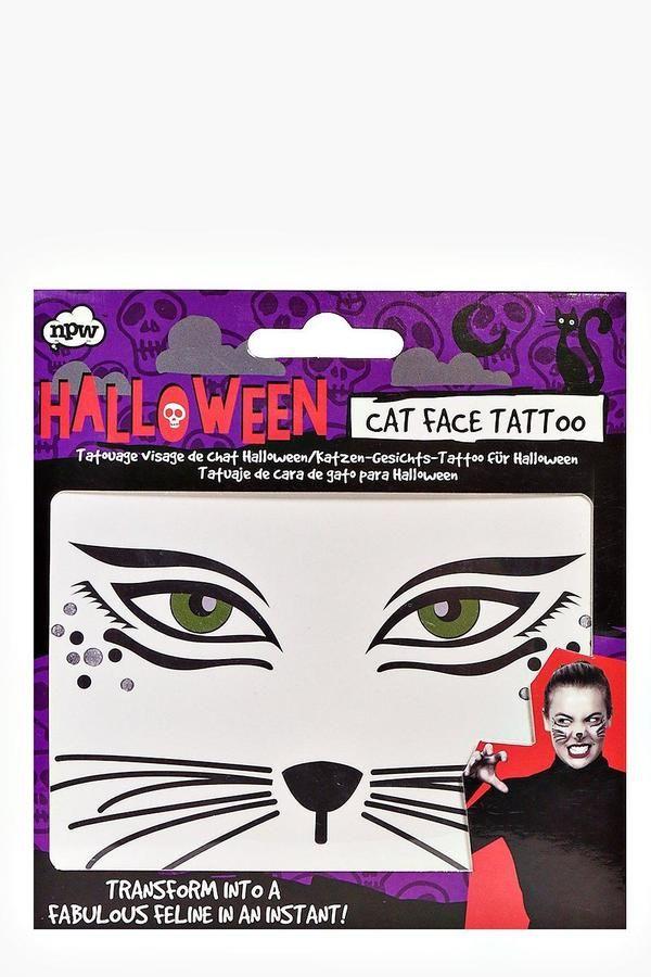 boohoo Halloween Cat Face Temporary Tattoo