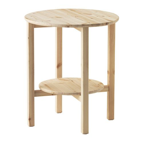 NORNÄS Tafeltje IKEA Onbehandeld massief hout is een slijtvast natuurmateriaal dat naar behoefte kan worden afgewerkt met verf, olie of lak.