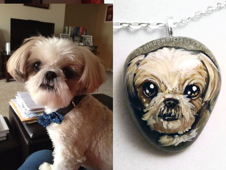I love painting close-up portraits because of all the detail that can be squeezed onto a little stone! / Custom necklaces: http://etsy.me/1tUJRcW