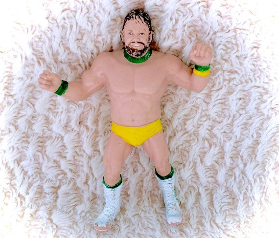 A sweet vintage 1987 Billy Jack Haynes WWF LJN Rubber wrestler figure. In decent vintage condition with some paint rubs, marks, and some holes made in his rubber and some scratches.  Please see all pictures up close for a thorough representation! :) I have TONS more vintage awesomeness in my store - check it out for cheap combined shipping!  I ship WORLDWIDE from a clean, pet & smoke-free home! Please note that shipping times will be slower OUTSIDE of the US & Canada, and tracking is not…