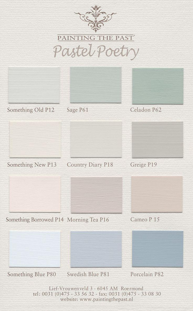 Farbkarten für Wandfarben und Möbelfarben von Painting the Past mit 94…