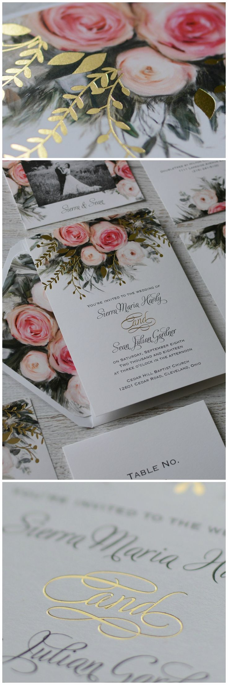 free wedding borders for invitations%0A Ethereal Garden  Foil Invitation