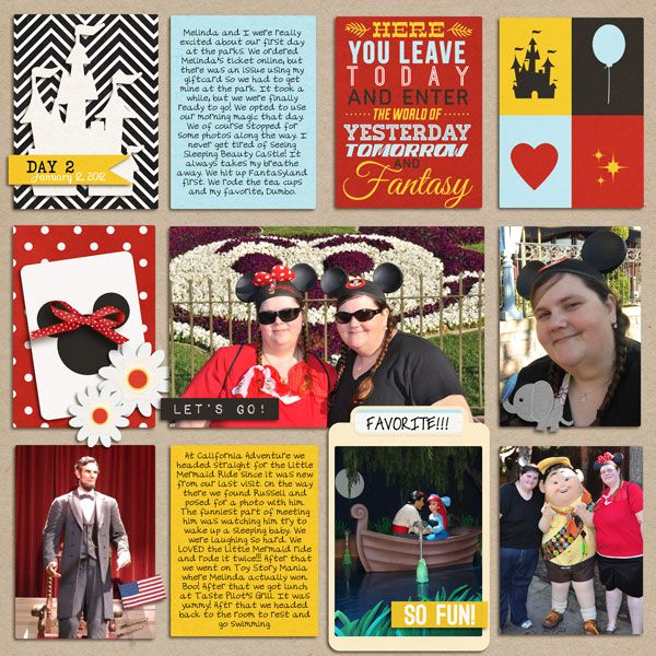 """Disney Digital Project Life page created by Melissa, featuring """"Project Mouse"""" products by Sahlin Studio & Britt-ish Designs"""