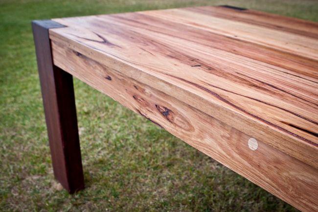 Featured Messmate timber table top and Jarrah legs #bomboracustomfurniture #timberlovin