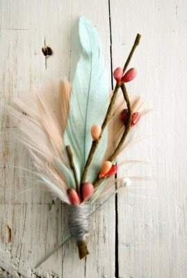 maybe feathers & real twigs for bouts?