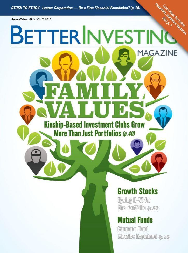 Better Investing Magazine January February 2019 Investing Investment Magazine Investment Club
