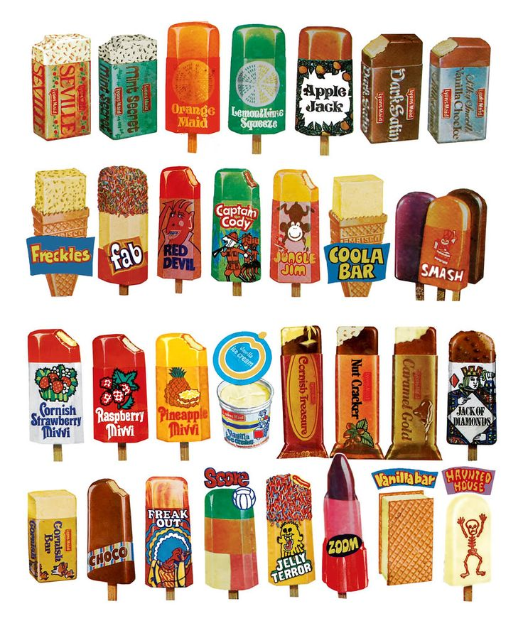 Old Fashioned Ice Lollies.