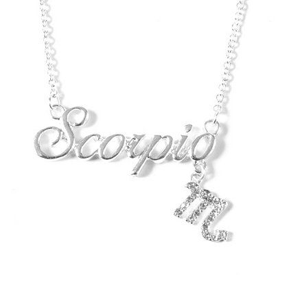 What's your sign? Treat your fave Scorpio to a dazzling Zodiac Nameplate Pendant Necklace
