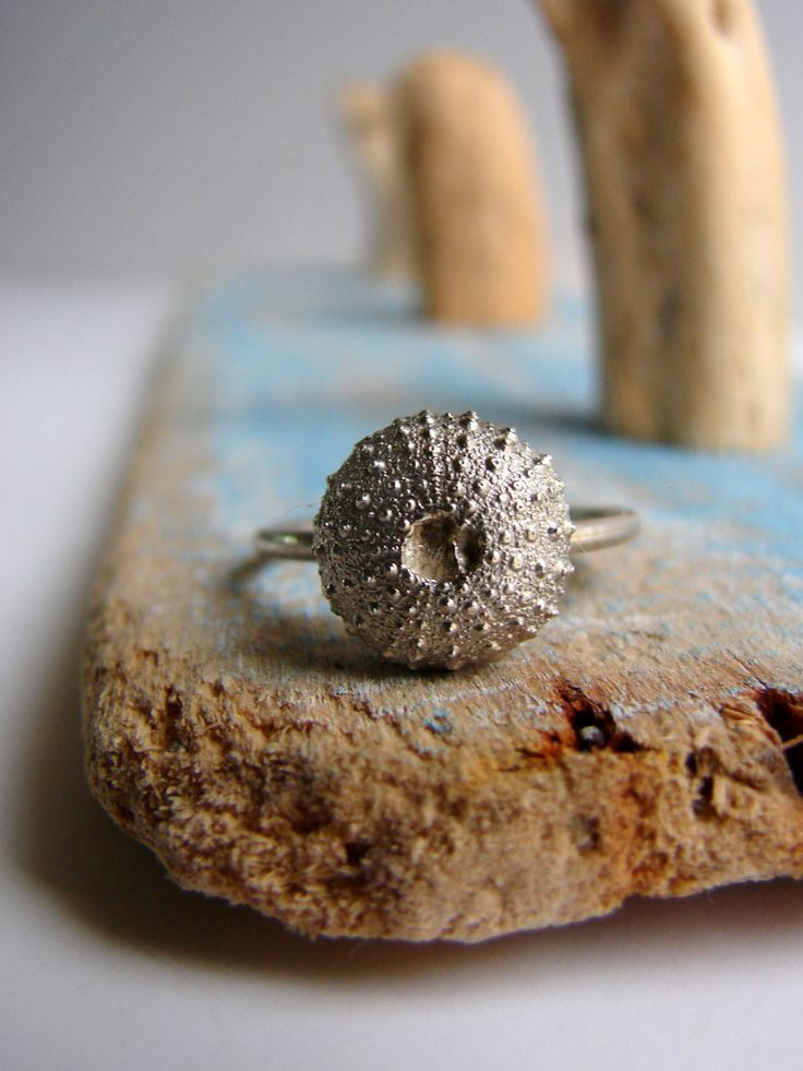 Sea Urchin Ring Engagement Ring by Nafsika on Etsy