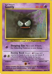 Basic Gastly Card  Set: Base Set Set #: 1 Card #: 50/102. Pokemon #: 092. Lv:  Type: Psychic Rarity: Common Condition: