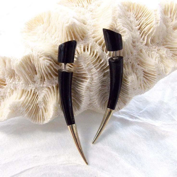 Silver Point Taper Fake Gauge Earrings Tribal Summer Jewelry Wholesale
