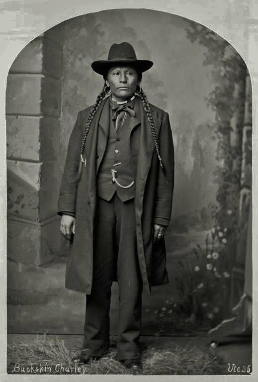 Sapiah (aka Buckskin Charley, aka Charles Buck), the husband of To-Wee (aka Emma Naylor-Buck) - Southern Ute (Mouache Band) - 1878