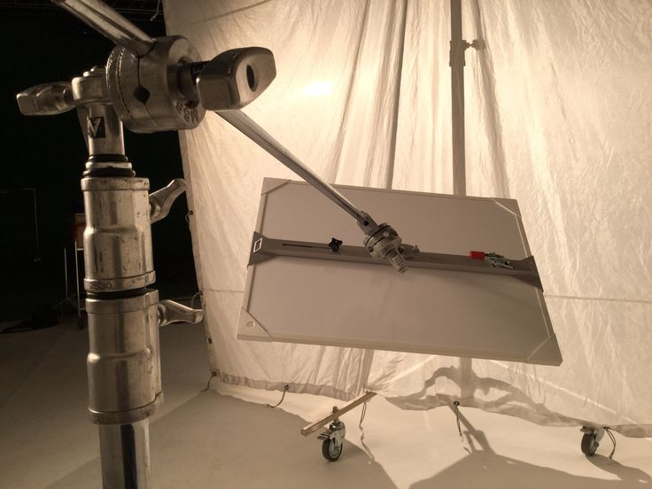 C-stand, KROTKIn Point Grip and Reflector.
