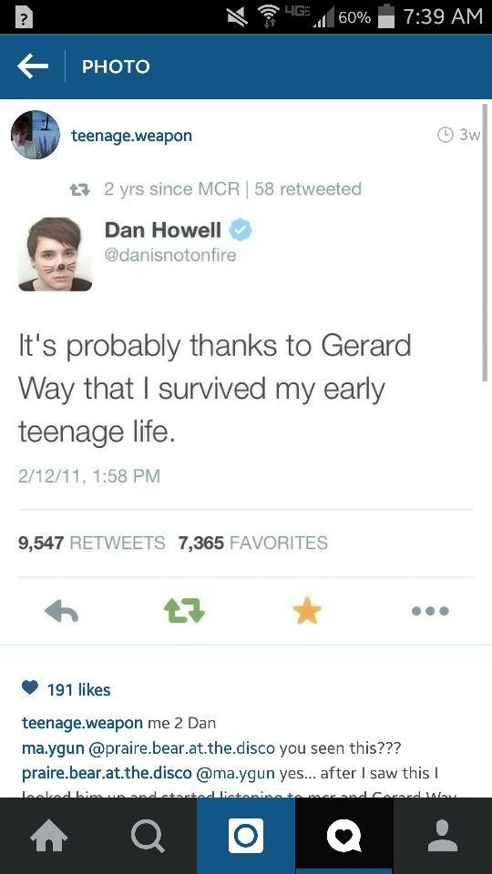 *Everyone in the MCRmy raises hands to Heaven* PRAISE THE LORD ALMIGHTY HALLELUJAH GOD BLESS GERARD WAY
