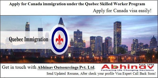 Apply for Canada immigration under the Quebec Skilled Worker program