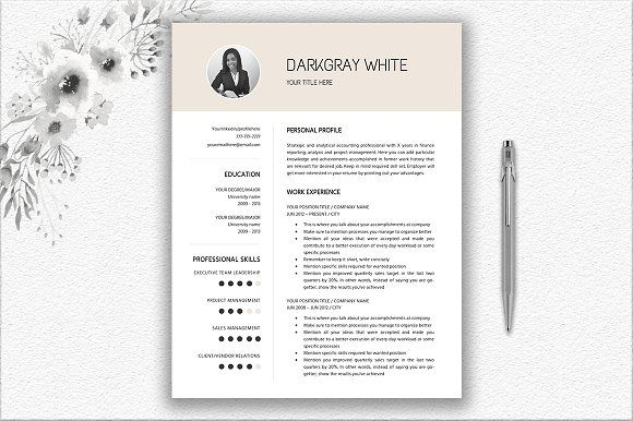 Resume | CV Template  by DocumentFolder on @Graphicsauthor
